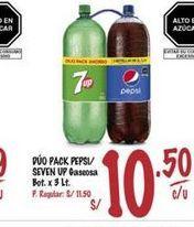 Oferta de Gaseosa Pepsi/ SEVEN UP por S/ 10,5