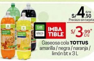 Oferta de Gaseosa de naranja Totto por S/ 4,5