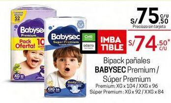 Oferta de Pañales Babysec por S/ 75,5