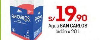 Oferta de Agua San Carlos por S/ 19,9