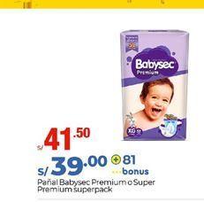 Oferta de Pañales Babysec por S/ 41,5
