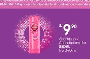 Oferta de Productos para el cabello Sedal por S/ 9,9