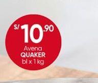 Oferta de Avena Quaker por S/ 10,9