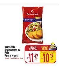 Oferta de Hamburguesas de pollo Redondos por S/ 11,49