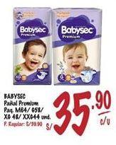 Oferta de Pañales Babysec por S/ 35,9