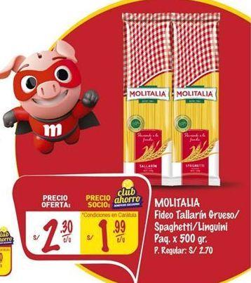 Oferta de Fideos Molitalia por S/ 2,3