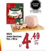 Oferta de Jamón Suiza por S/ 4,49