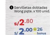 Oferta de Servilletas Wong por S/ 2,8