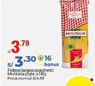 Oferta de Fideos Molitalia por S/ 3,79
