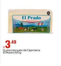 Oferta de Queso tipo suizo de Cajamarca El Prado por S/ 3,49