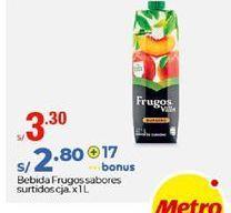 Oferta de Bebidas Frugos sabores surtidos por S/ 3,3