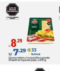 Oferta de Queso edam. mozzarella o gouda  Braedt por S/ 8,29