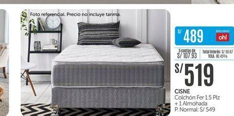 Oferta de Colchones cisne + almohada por S/ 519