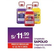 Oferta de Limpiadores Sapolio por S/ 11,99