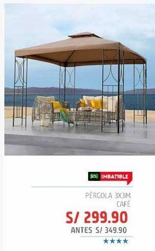 Oferta de Pérgola 3x3m cafe por S/ 299,9