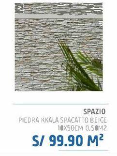 Oferta de Piedra kkaa spacatto beige 10x50cm 0,5m2 por S/ 99,9