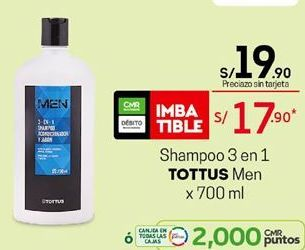 Oferta de Shampoo Tottus por S/ 19,9