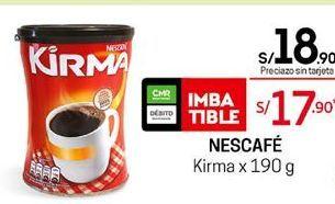 Oferta de Café Kirma Nescafe por S/ 18,9