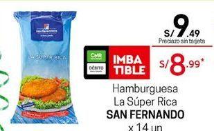 Oferta de Hamburguesas San Fernando por S/ 9,49