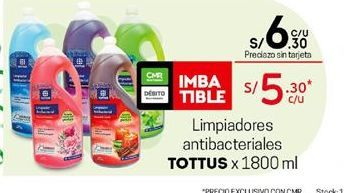 Oferta de Limpiadores Tottus por S/ 6,3