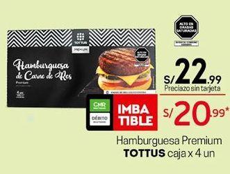 Oferta de Hamburguesas Tottus por S/ 22,99