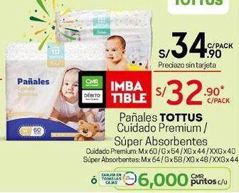 Oferta de Pañales Tottus por S/ 34,9