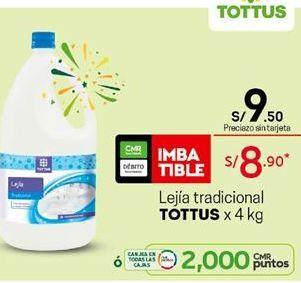 Oferta de Lejía Tottus por S/ 9,5