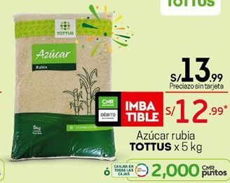 Oferta de Azúcar rubia Tottus por S/ 13,99