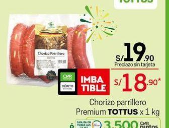 Oferta de Chorizo parrillero Tottus por S/ 19,9