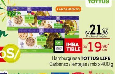 Oferta de Hamburguesas Tottus por S/ 21,9
