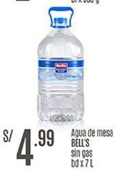 Oferta de Agua Bell's por S/ 4,99