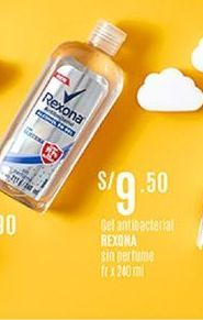 Oferta de Gel Rexona por S/ 9,5