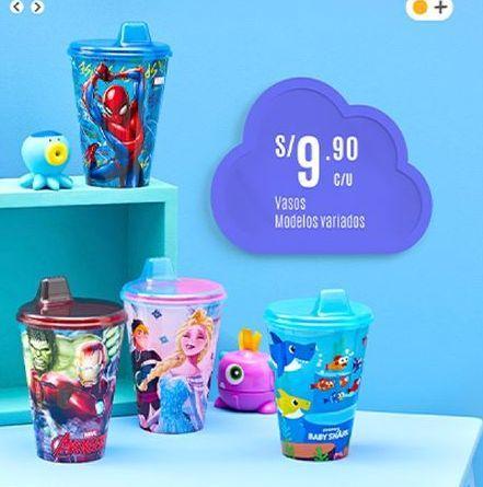 Oferta de Vasos modelos variados por S/ 9,9