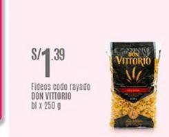Oferta de Fideos Don Vittorio por S/ 1,39