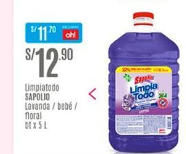 Oferta de Limpiadores Sapolio por S/ 12,9