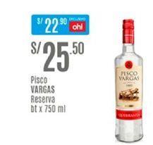 Oferta de Pisco Vargas por S/ 25,5