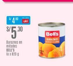 Oferta de Duraznos Bell's por S/ 5,3
