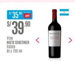 Oferta de Vino Nieto Senetiner por S/ 39,9