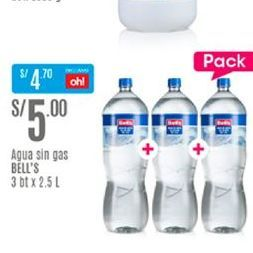 Oferta de Agua Bell's por S/ 5