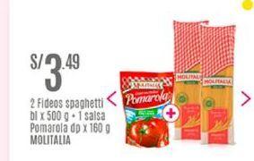 Oferta de Fideos Molitalia por S/ 3,49