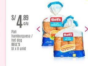 Oferta de Pan de hamburguesa Bell's por S/ 4,89