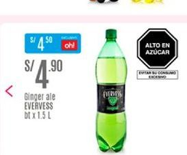 Oferta de Ginger ale Evervess por S/ 4,9