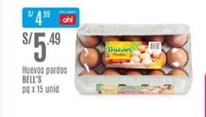 Oferta de Huevos Bell's por S/ 5,49