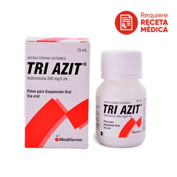 Oferta de Tri Azit 200 mg / 5 ml Suspensión Oral - Frasco 15 ML por S/ 50