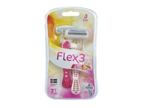 Oferta de Máquina de Afeitar Gold Lady Flex 3 - Pack 2 UN por S/ 7,5