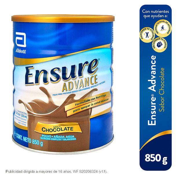 Oferta de Ensure Advance Sabor Chocolate - Lata 850 g por S/ 94,9