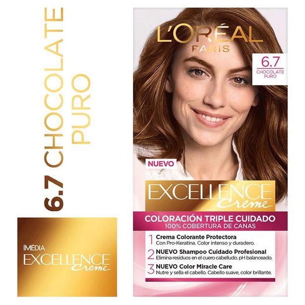 Oferta de Tinte para Cabello Excellence #6.7 Chocolate Puro - Kit 1 UN por S/ 27,9