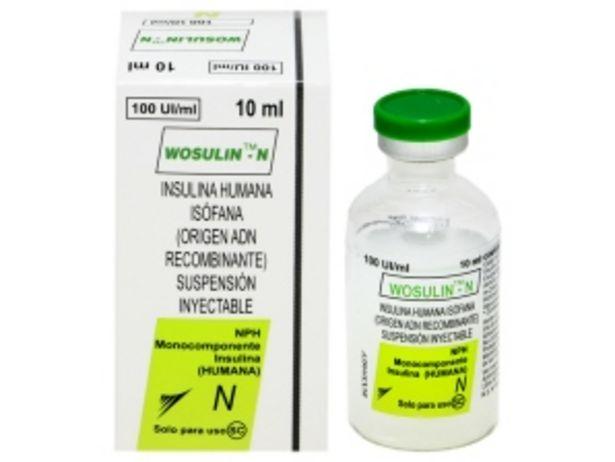 Oferta de Wosulin-N 100 UI/ml Suspensión Inyectable SC - Frasco vial 10 ML por S/ 48,9
