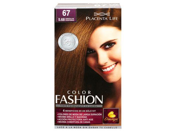 Oferta de Tinte para Cabello 5.68 Chocolate Profundo Color Fashion Placenta Life - Kit 1 UN por S/ 21,3