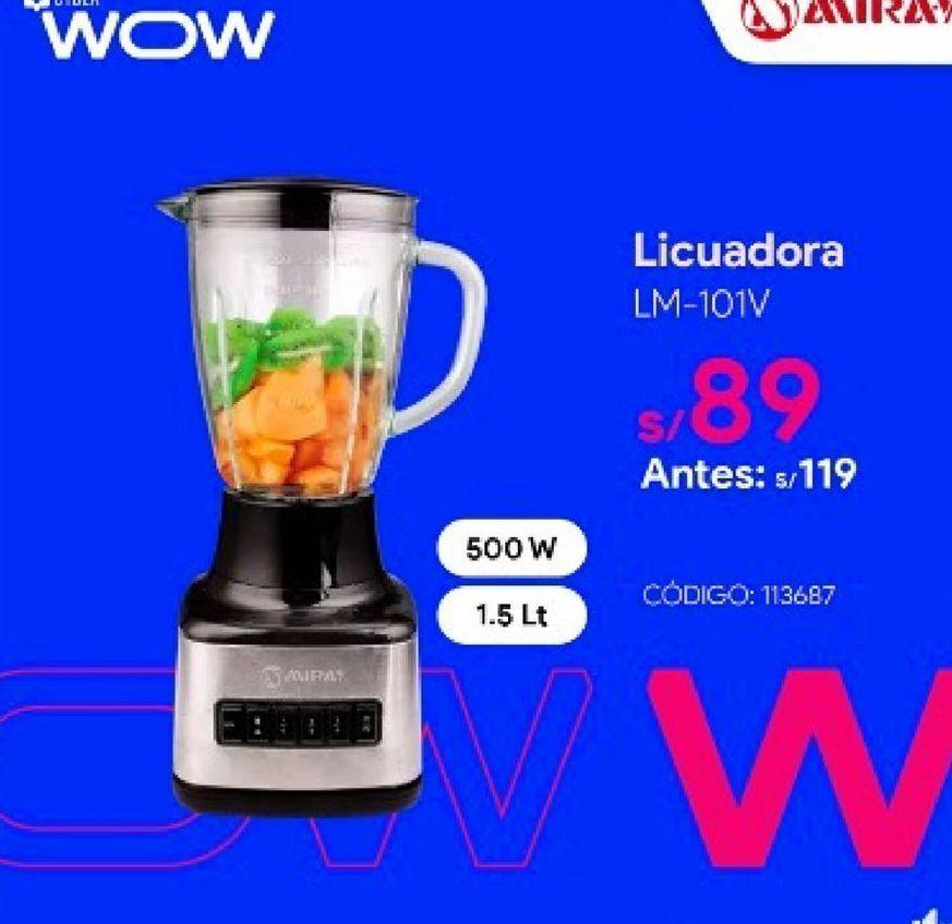 Oferta de Licuadora Miray por S/ 89